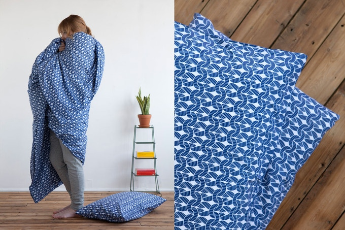 Ink Knit Knit bedding by Room39