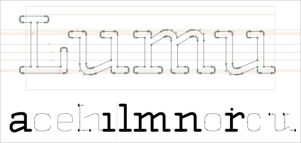 Lumu typeface to meet our vision, thanks to Domen Fras.