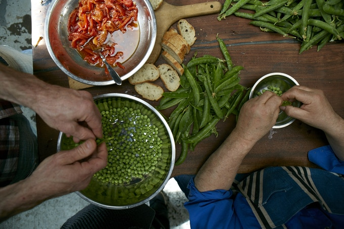 Prepping for Dinner (photo by Laurie Frankel)