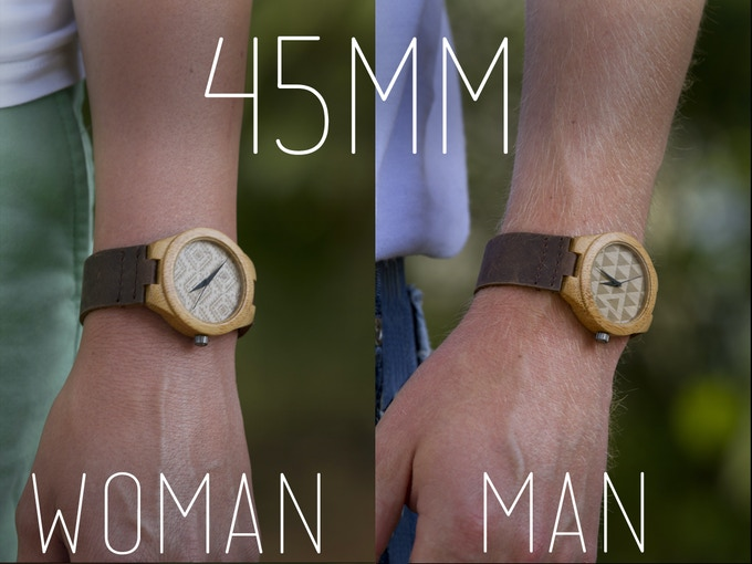 See how the 45mm would fit the average man or woman