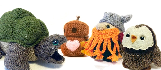 A few toys from my Etsy shop! I've been very busy this past year making made-to-order crocheted plush toys. It's been a blast, but now I want to teach you!