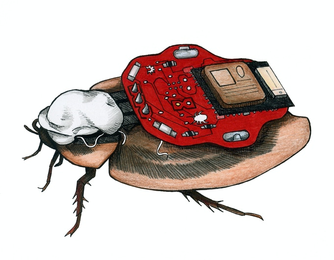 The RoboRoach: Control a living insect from your smartphone! by