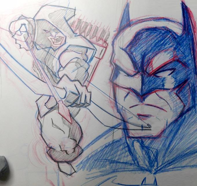 Superhero drawings from my personal sketchbooks