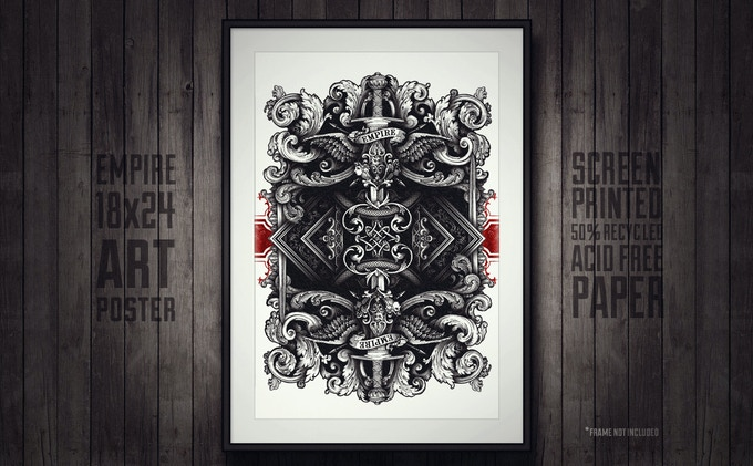 Empire Back Design Art Poster 18x24 - Click to enlarge