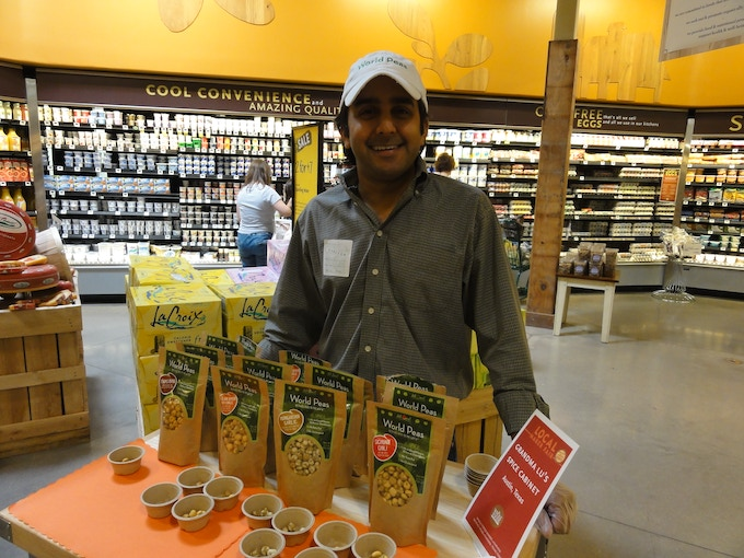 Handing out samples at a Whole Foods Market in Texas