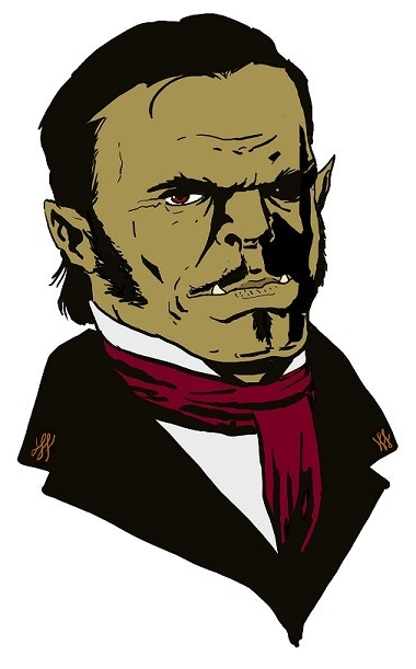 A half-orc railroad tycoon, and one example of ZEITGEIST portraits