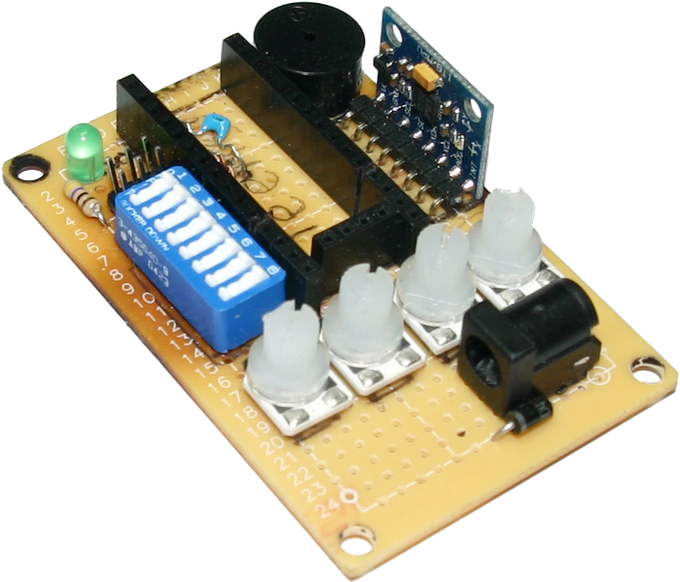 The original balancing scooter control board that evolved into the Tilty Duo