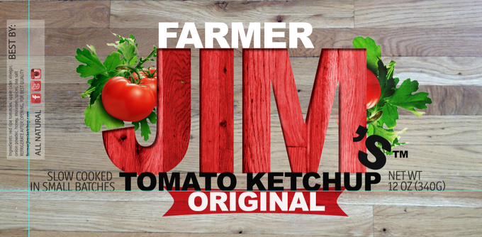 The label for the original tomato ketchup