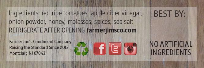 Close up of original tomato ketchup label