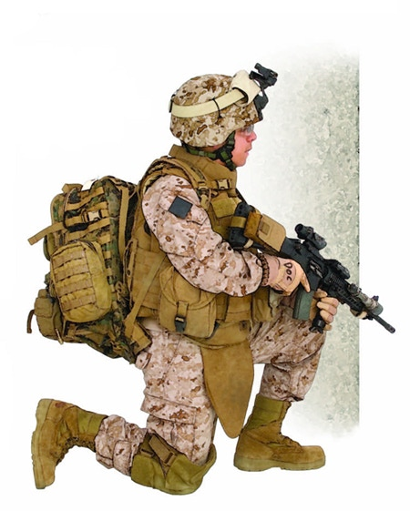US Navy Hospital corpsman, 2/8 Marines, by J. Kenneth Eward © Osprey Publishing Ltd. Taken from Elite 190: US Marine Infantry Combat Uniforms and Equipment 2000–12.