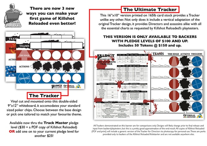 The differences between the Tracker and the Ultimate Tracker. Choose your weapon!