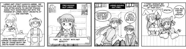 "Megatokyo comic [0051] - ""Naze Nani: what if..."""