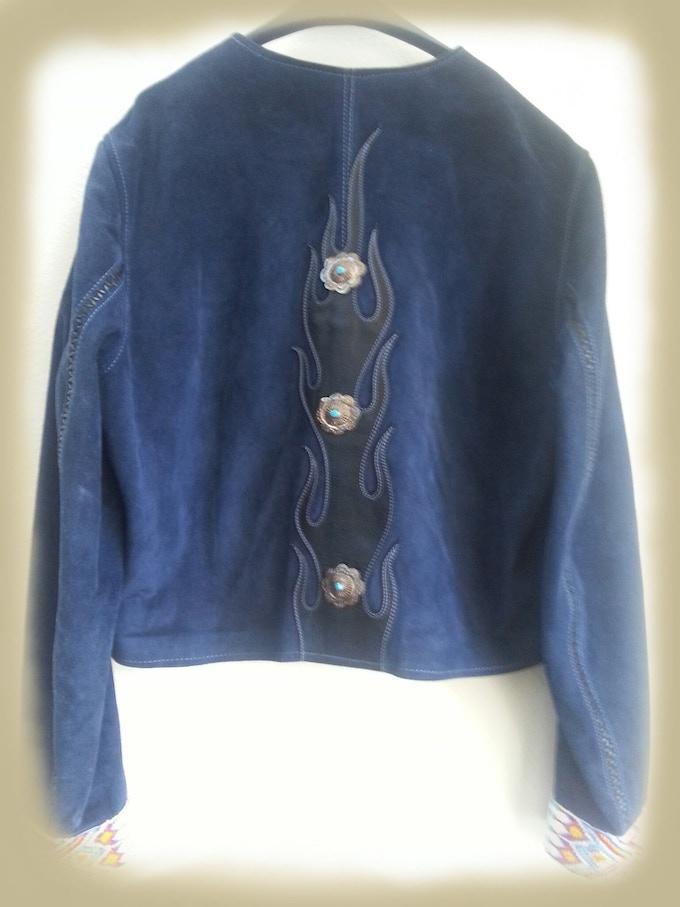Back of Blue Suede Jacket