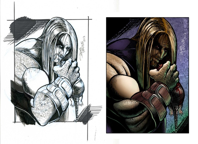 """The 9"""" x 12"""" ORIGINAL ART for the duJour Trading Card by Shawn Harbin - Available at the $25 Reward Tier!"""