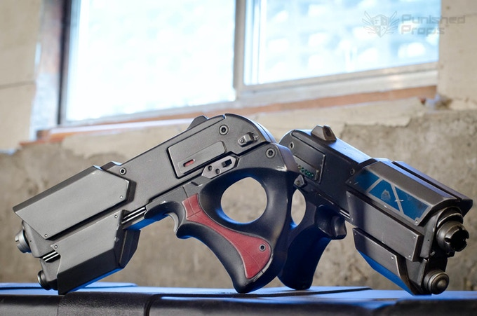 The two current Prop Space Gun Prototypes