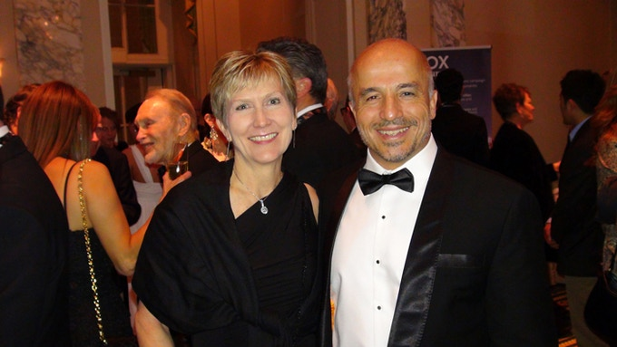Nancy Board and Erden Eruç at the Waldorf Astoria during the 2013 Explorers Club Annual Dinner, to receive a Citation of Merit.