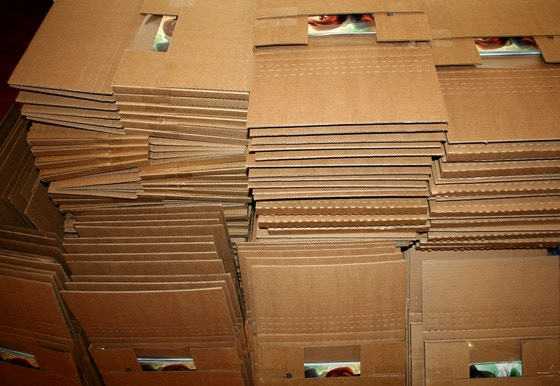 Shipping packages from the last Kickstarter campaign