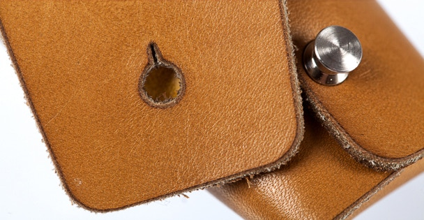 Lumubag with custom button detail.