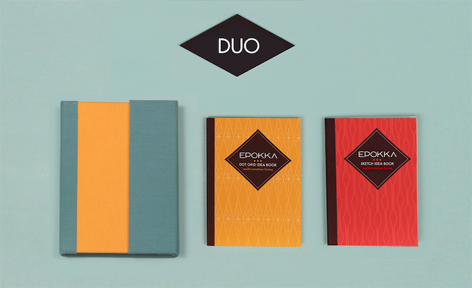The DUO with the Dot-Grid and Sketch Idea Book Inserts