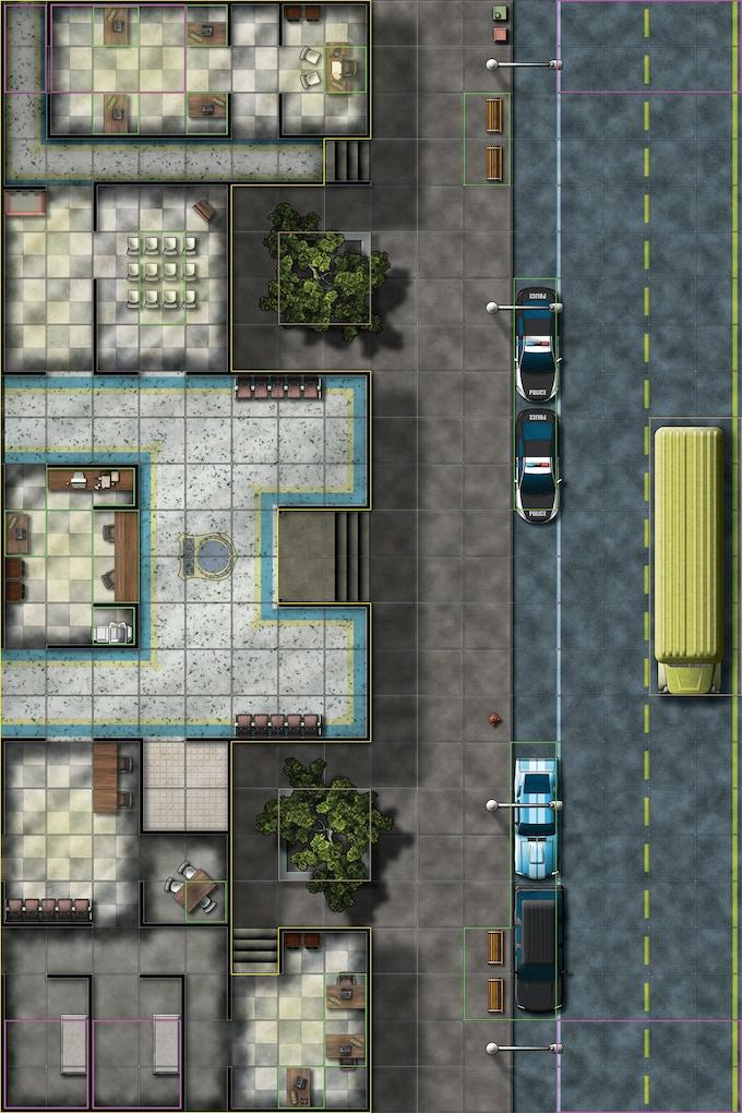 Moder Urban Setting Police Station!
