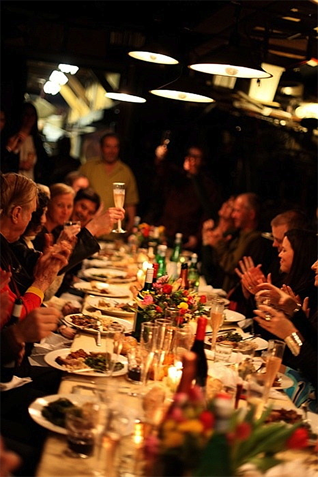Dinner at the Forge (photo by Samantha Smith)