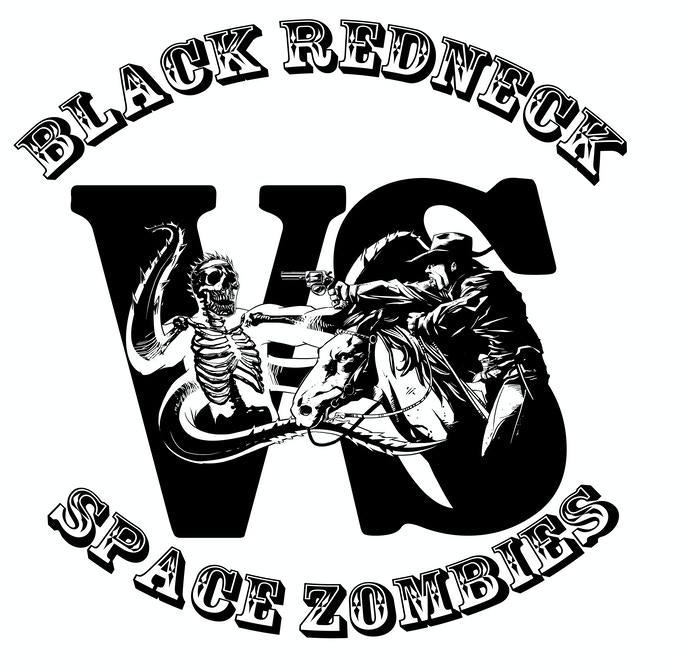 Black Redneck vs. Space Zombies T-shirt