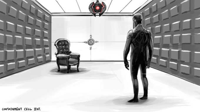 Somnio Prison Set - Concept Art by Jake Hollander