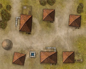 One of the 24 x 30 poster maps depicting a typical village. We'll show you the others as the Kickstarter marches on.