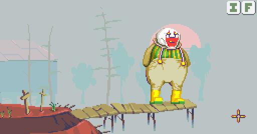 A screengrab of a recent prototype - Dropsy explores a hermit's island.