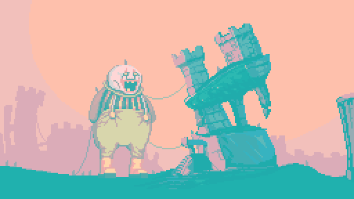 A mock-up of an area in Dropsy's dream world.