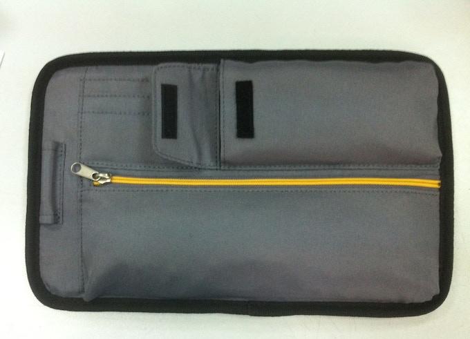 Final top door organizer design with dedicated smartphone pocket
