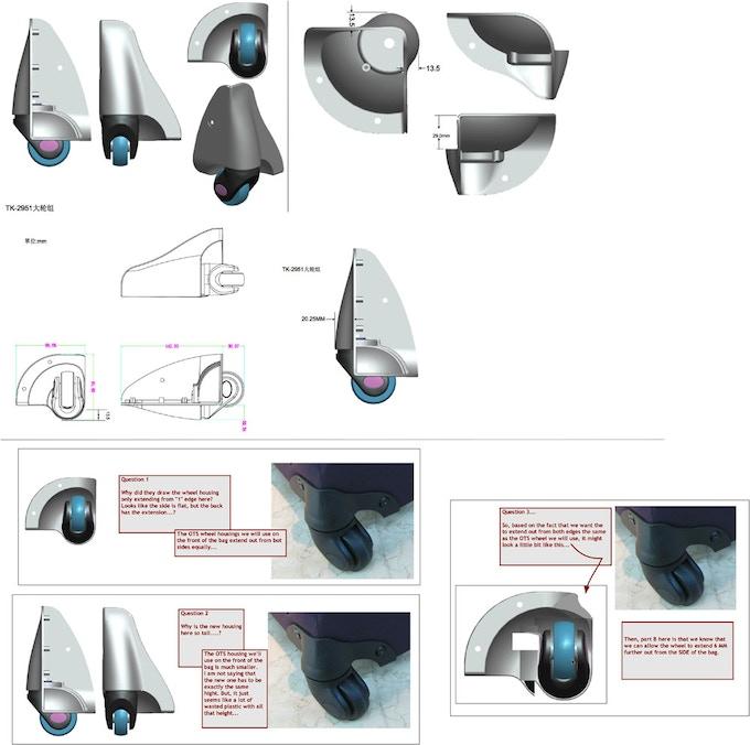 Spinner wheel mock-ups to determine best wheel design