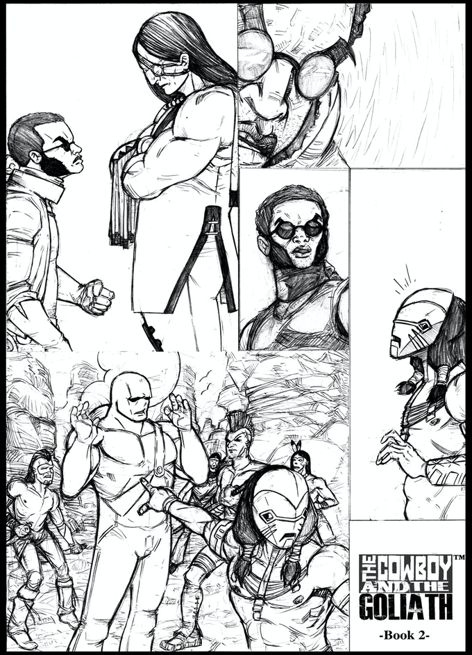Penciled art from book two!! They are in no particular order, no spoilers here :)