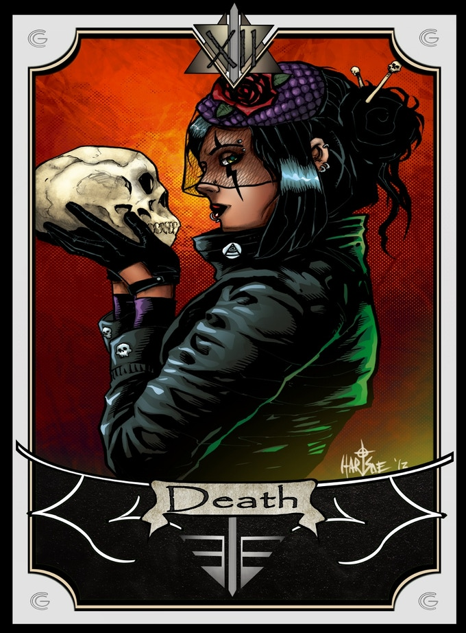 $10k goal unlock 'METAL' DEATH TAROT CARD