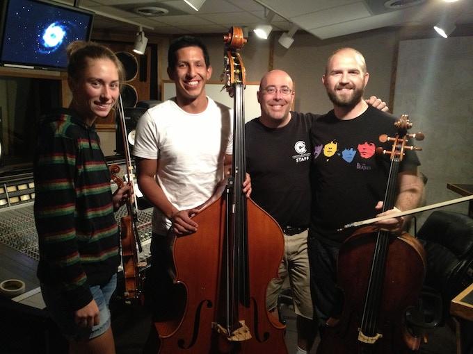 Simply Three with recording engineer Paul Richards