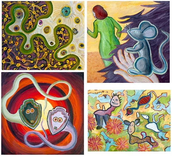 Four More of My Paintings for THE BIG AHA