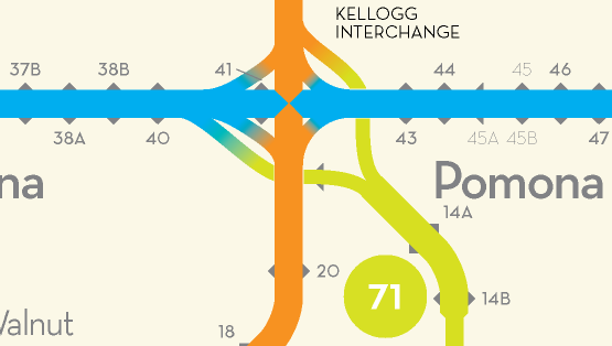 Los Angeles Freeway Map Redesigned By Peter Dunn Kickstarter - Los angeles freeway system map