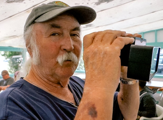David Crosby of Crosby, Stills and Nash.  Poppy would have been amazing at Woodstock.