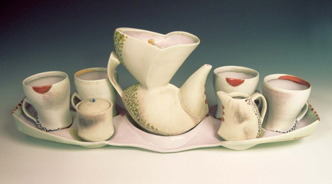Tea Serving Set... A similar piece will be available through the kiln unloading event incentive option.