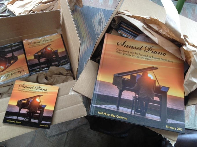 Small and Large photo books of Sunset Piano Opus One