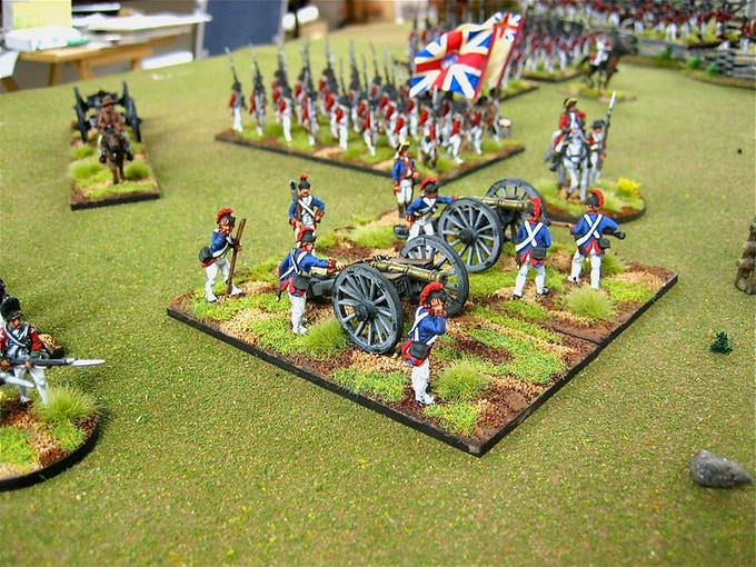 British Artillery Crew with 6-pd cannon