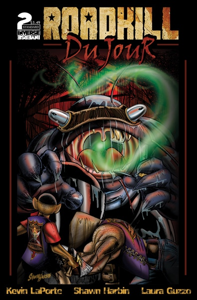The Standard Cover to Roadkill du Jour #2 - Available in Print at the $10 Reward Tier!