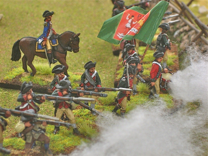 American Continentals and mounted officer