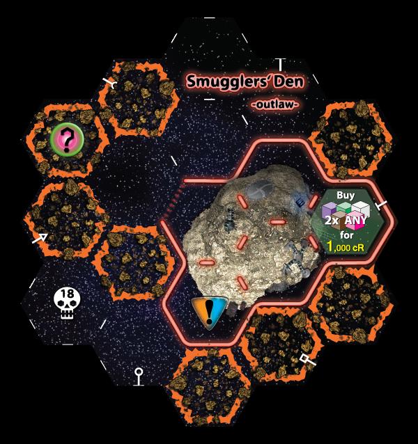 Unlocked new sector tile - Smugglers Den
