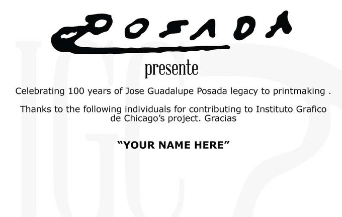 """By contributing $25, your name will be included on the sponsors panel accompanying the """"Posada Presente"""" portfolio exhibition."""