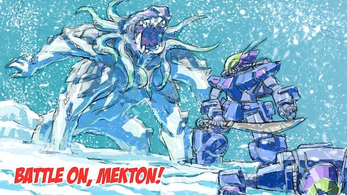 Mauler confronts an Uru Killer on the South Kargan Icecap!