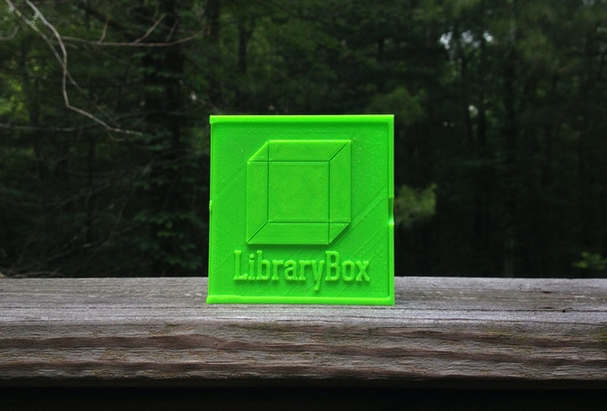 Limited Edition Kickstarter 3D Printed LibraryBox container