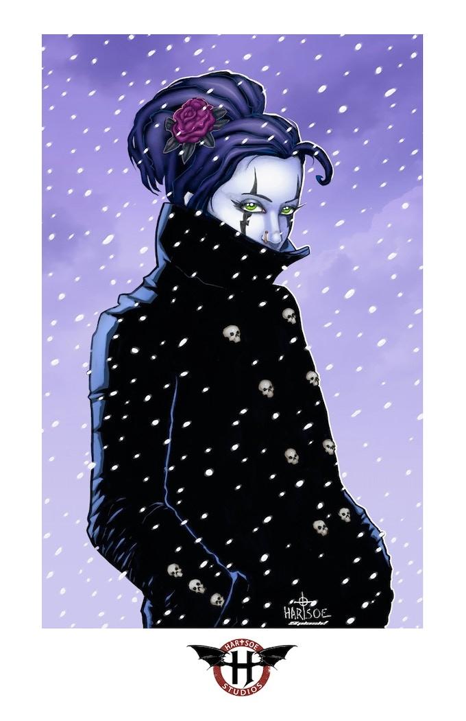 "RAZOR: SNOW 11' by 17"" PRINT"