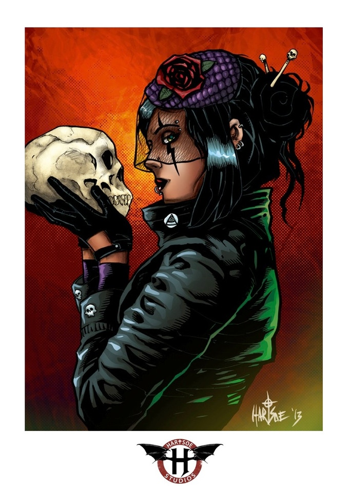 """RAZOR: KISS OF DEATH SIGNED/REMARK PRINT 11"""" BY 17""""  $26K stretch goal"""