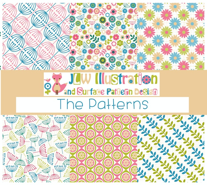 6 of the Patterns which will be used throughout each calendar.